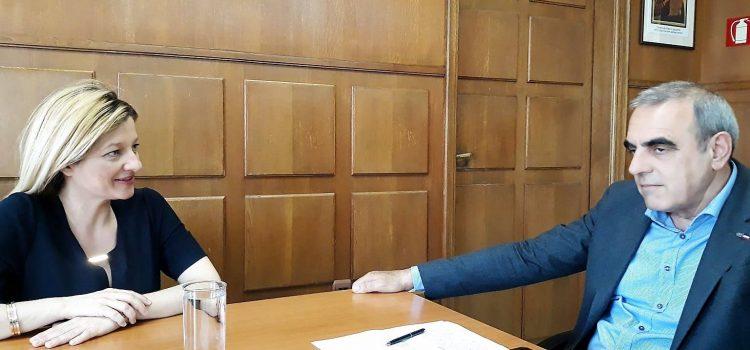 Συνάντηση Αυγερινοπούλου με το Γ. Γραμματέα Πολιτικής Προστασίας για την ενίσχυση της πυροπροστασίας στην Ηλεία