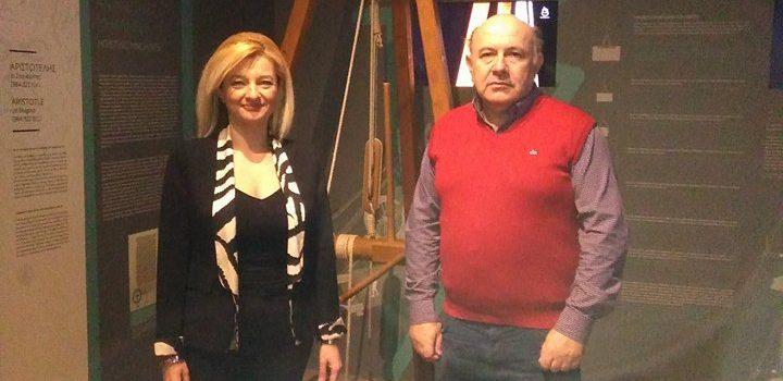 Επίσκεψη Αυγερινοπούλου στο Μουσείο Αρχαίας Ελληνικής Τεχνολογίας Κοτσανά