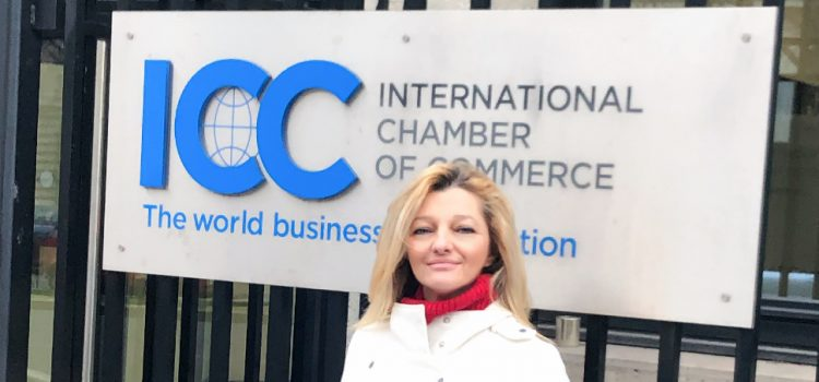 Dr. Avgerinopoulou at the ICC's Roundtable for the UN Global Pact for the Environment