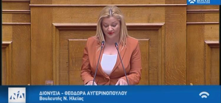Ομιλία επί των προγραμματικών δηλώσεων στη Βουλή