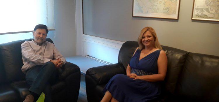 Σημαντική συνάντηση Αυγερινοπούλου με Υφυπουργό Περιβάλλοντος και Ενέργειας, κ. Δημήτρη Οικονόμου