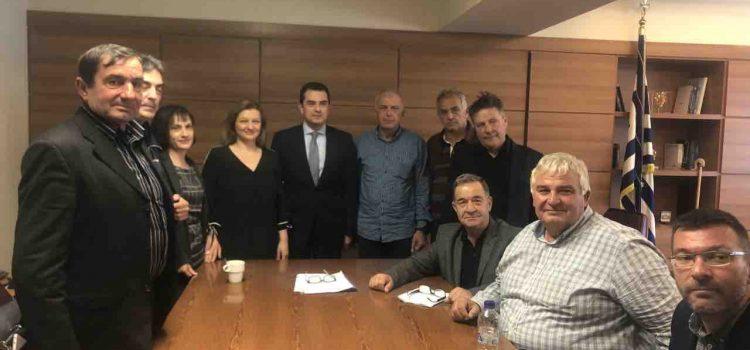 Συνάντηση Αυγερινοπούλου και Εκπροσώπων των ΓΟΕΒ και ΤΟΕΒ Ηλείας με τον Υφυπουργό Αγροτικής Ανάπτυξης και Τροφίμων, κ. Σκρέκα