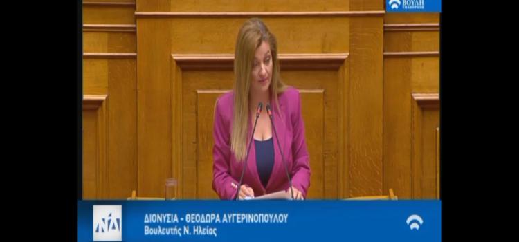 Αυγερινοπούλου: Ομιλία στην συζήτηση για την πορεία του έργου Πάτρα – Πύργος: Να γίνει ο δρόμος!
