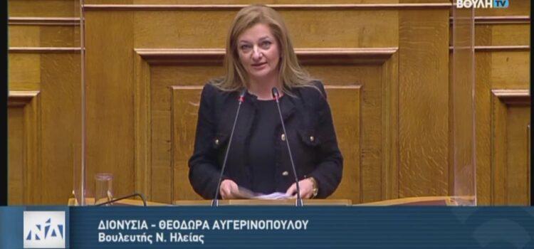 Ομιλία Αυγερινοπούλου στην Ολομέλεια της Βουλής για το Κρατικό Προϋπολογισμό του 2021