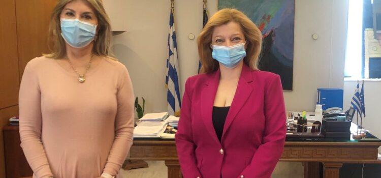 Συνάντηση Αυγερινοπούλου με την Υφυπ. Παιδείας, κα Μακρή, για το Εσπερινό ΕΠΑΛ Πύργου, το Εσπερινό Γενικό Λύκειο Ζαχάρως και το ΕΕΕΕΚ Αμαλιάδος